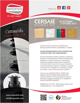 Impertek at the CERSAIE 2015